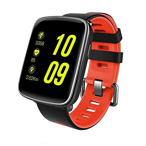 YOZOOE GV68 Smart Watch, wasserdichter Bluetooth Smart Watch-Pulsmesser für Schwimmer Fitness Tracker, Sport & Outdoor (Farbe : Rot) (Fitness-tracker Schwimmer)