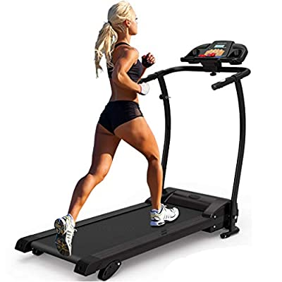 Cartkningts Treadmill Folding Running Machine Electric Motorized Treadmill for Home Exercise with 3 Level Incline, LED Display with Heart Rate Monitor by Butterfly