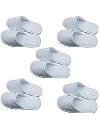 727e816690a8e Fansi Cinq Paires de Pantoufles Blanches jetables hébergement à l hôtel Spa  Sauna Hommes et Femmes partageant des…