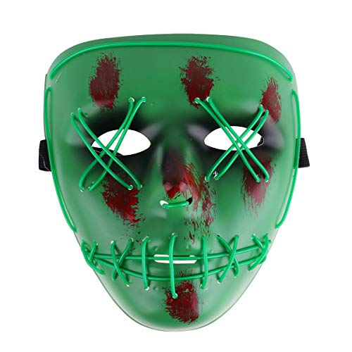 CHICTRY LED Light Maske EL Wire Cosplay Maske -
