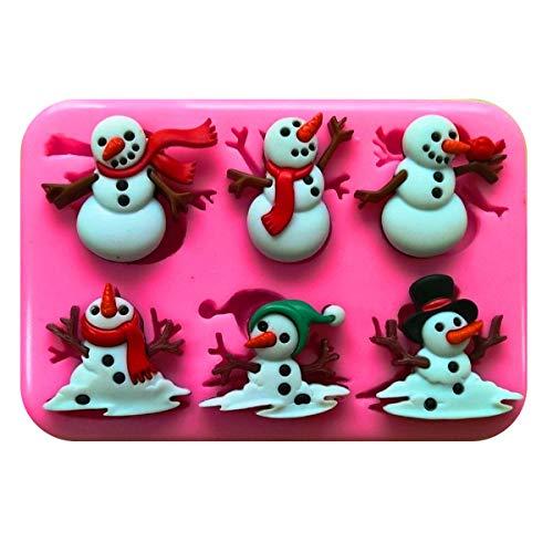 Weihnachten Schneemänner und Schmelzen Schneemänner Silikonform Form für Kuchen dekorieren KUCHEN, Cupcake Topper Zuckerguss Sugarcraft von Fairie, Blessings