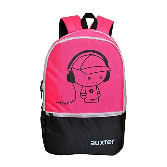 AUXTER Polyester 33 Litre Pink School Backpack