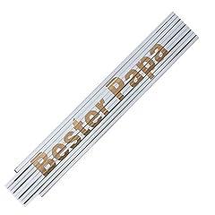 Idea Regalo - Metro Piegabile Metro Bastone Incisione Laser Dicendo: Festa Del Papà Nonno Compleanno Testo Scelta - Bester Papa
