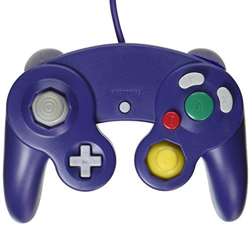 OSTENT Wired Schock Klassisch Controller Gamepad Joystick Joypad Kompatibel für Nintendo GameCube NGC Wii Konsole Videospiele Color Lila