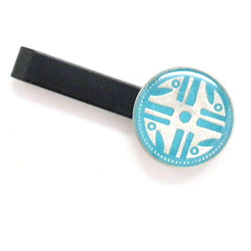 Native American Medaille Krawatte Bar Clip Tiebar Krawatten-Clip türkis Farbe Aboriginal Tribe Tribal Indian Navajo Apache Cherokee Indigene Jewelry (Native American Hochzeit)