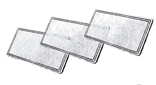 3er Set Filter / Vlieskohlefilter / Ersatzfilter f. Trinkbrunnen Raindrop + Fung Shui Pioneer -