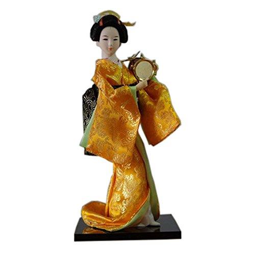 Japanische Puppen Geisha Mädchen Geiko Kimono Puppe Home Dekoration Kunst Sammlung, # (Make Up Geisha Kostüm)