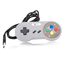 SNES PC Gamepad,SNES USB Retro Controller Connector,[iNNEXT] SNES USB SFC Supper Classic Game Controller Joypad Gamestick For Windows PC Mac Notebook-1 Pack