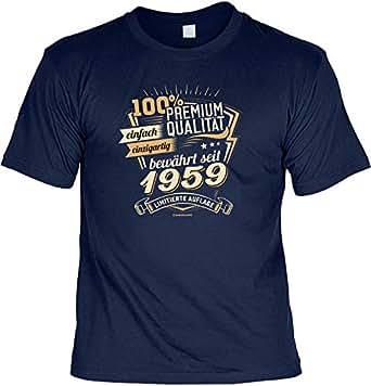 Cooles T-Shirt zum 60. Geburtstag T-Shirt mit Urkunde 1959 Limitierte Auflage Geschenk zum 60 Geburtstag 60 Jahre Geburtstagsgeschenk 60-jähriger