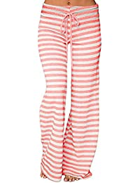 Amazon.es  pantalones palazzo - Rosa   Mujer  Ropa 30a04f788817