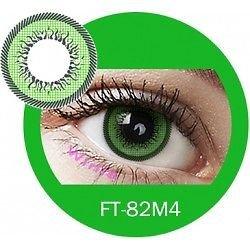 Farbige Kontaktlinsen GRÜN, weich, ohne Stärke als 2er Pack (2 Stück), angenehm zu tragen, perfekt für helle und dunkle Augen, Party (Grün), ohne Tagesbehälter