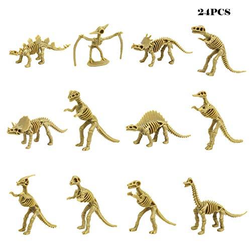 Bescita6 Dinosaurier Fossil Skelett Sortiert Figuren Dino Knochen 3,7 Zoll Modell Kiel Puzzle Spielzeug (24 Stück) - 24 Stück Dinosaurier-puzzle