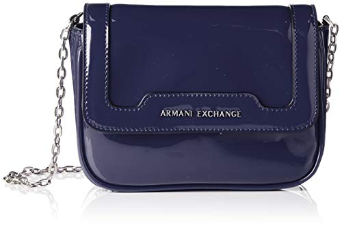 Armani Exchange Damen Crossbody Bag Colorful Schultertasche, Blau (Navy), 15x6.5x19 cm