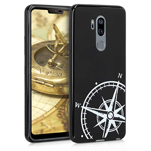kwmobile LG G7 ThinQ/Fit/One Hülle - Handyhülle für LG G7 ThinQ/Fit/One - Handy Case in Weiß Schwarz