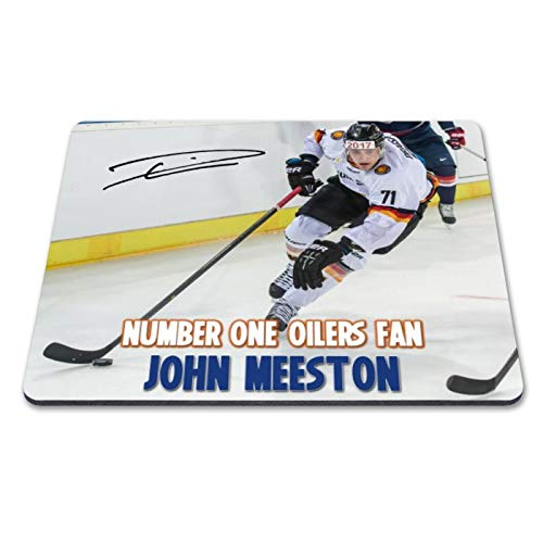 Leon Draisaitl - Edmonton Oilers - NHL 2 Personalised Gift Print Mouse Mat Autograph Computer Rest Mouse Mat Compatible with Laser and Optical Mice (with Personalised Message)