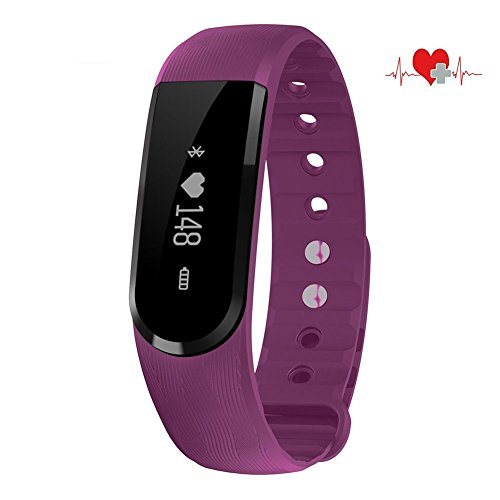 Wristband Bluetooth Heart Rate Monitor and Health Monitor Multi-Point Touch Music Control Tracker Camera Romote Smartwatch for IOS
