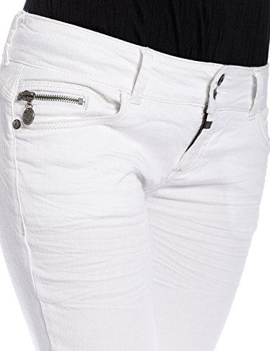 Timezone Damen Jeanshose Weiß (Pure White 100)