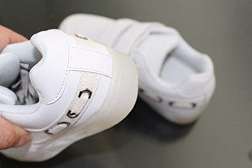 Mädchen kleines Led Sportschu 7 White Leuchten Jungen Handtuch Trainer present Farben Kinder Sneakers Führte junglest® Turnschuhe wqA1dnX8