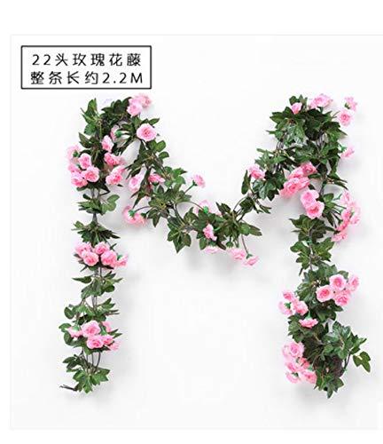Gefälschte Rose Reben Blumen Künstliche Hängende Rose Efeu Girlande Für Hotel Hochzeit Haus Party Garten Wohnkultur
