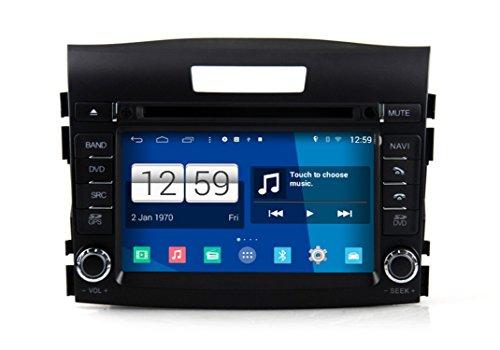 Roverone Android System 7 Zoll Doppel DIN Autoradio GPS für Honda CRV CR-V 2012 2013 2014 2015 mit Navigation Radio Stereo DVD Bluetooth SD USB Spiegel Link Touch Bildschirm (Stereo-crv Auto)