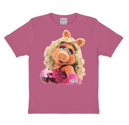 Logoshirt Jungen Hemd Muppets-Miss Piggy-Portrait, (Pink), 13-14 Jahre (Hersteller Größe:158 cm/164 cm)