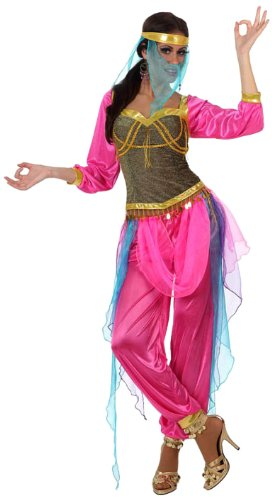 Arabische Tänzerin Kostüm - Atosa 10067 - Verkleidung Arabische Tänzerin, Größe 42-44, rosa