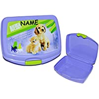 Preisvergleich für Unbekannt Brotdose - Hund und Katze / Planet Animal - Brotbüchse Küche Essen Tiere Haustiere Katzen Mädchen Jungen Kinder - Vesperbrotdose Lunchbox