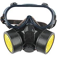 aiu Mascarilla doble Reservorio Gas Máscara anti de polvo de formaldehído/Acabado ...
