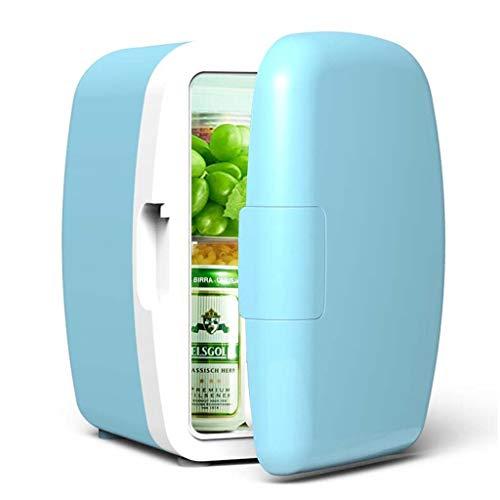 WYNZYYX Voiture De Réfrigérateur 6L 12V Voiture / 220V Accueil Réfrigération Mini Réfrigérateur Dortoir/Ménage Petits Cosmétiques Lait du Sein Cosmétiques Réfrigéré Bleu 24 * 21.5 * 30.5cm
