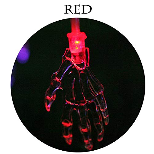 Lampe De Décoration Led Manual Battery Wreath Christmas Party String Lights Halloween Chain Light Skeleton Red 1.5Mètres10Lampes(Batterie)