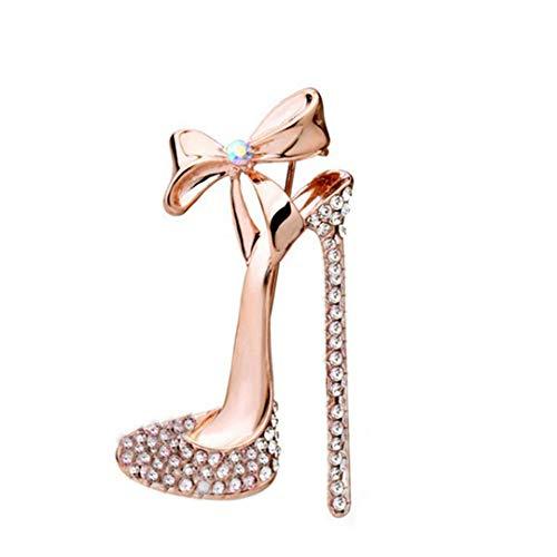 Faliya Exquisite Strass High Heel Schuhe Brosche Persönlichkeit Kleidung Hut Schal Brosche für Hochzeitsfest Geschenk