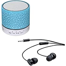 Exosis Rechargeable Bluetooth Outdoor Speaker With LED Light, Support TF Card & Mic With WH208 In-Ear 3.5mm Stereo Headset Earphones Compatible With Xiaomi, Lenovo, Apple, Samsung, Sony, Oppo, Gionee, Vivo Smartphones
