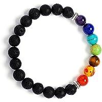 Jiayiqi Natürliche Lava Rock Steine Charms Armbänder 7 Chakra Healing Energy Edelsteine Armband preisvergleich bei billige-tabletten.eu