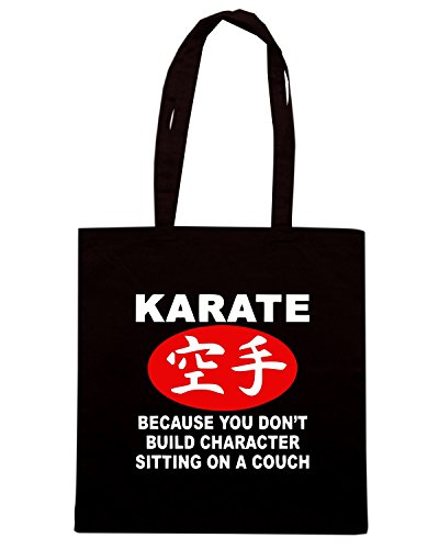 T-Shirtshock - Borsa Shopping TAM0068 karate dark tshirt Nero