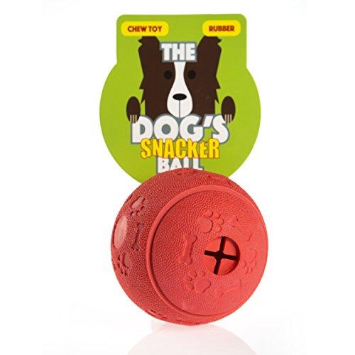 The Dog's Balls The Dog'S Snacker Ball, un Juguete de Goma para Masticar de 7,5 cm Perro, con su Perro o Cachorro, el Rey Kong de Perro Stuff It Bolas