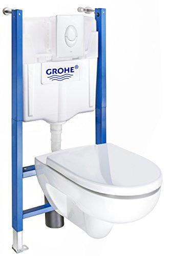 Keramag, Pagette 4035300831739 Komplettset Vorwandelement und Wand-WC Renova, 1 Stück, weiß