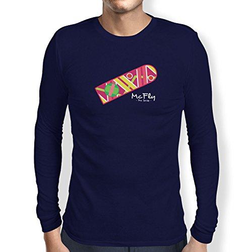 Texlab Herren McFly Pro Series Hoverboard Langarm T-Shirt, Navy, XXL