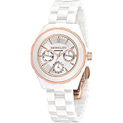 Morellato Time Women's Quartz Watch with White Dial Analogue Display and White Ceramic Bangle R0153116504