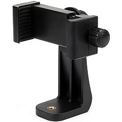 Zacro Adaptateur universel de trépied de Smartphone Génération pour Emission en direct s'adapte à tous les téléphones, rotation vertical et horizontal, serrage réglable, support rembourré
