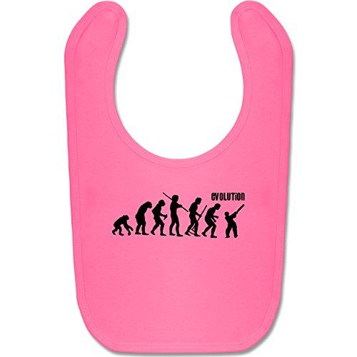 Shirtracer Evolution Baby - Cricket Evolution - Unisize - Pink - BZ12 - Baby Lätzchen Baumwolle