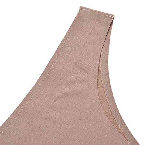 Bovake Wearshapewear mutandine slip con pizzo cotone biancheria intima invisibile perizoma Cotton spandex senza saldatura Crotch Khaki