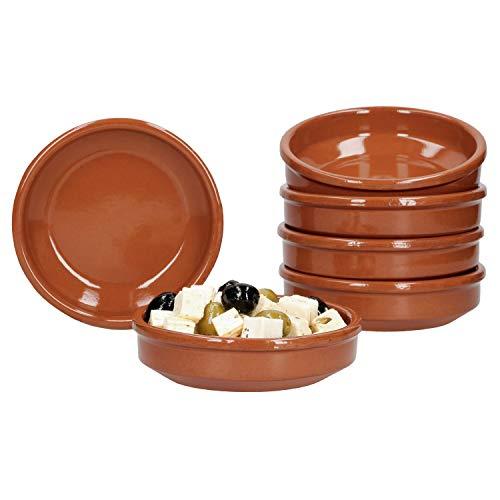 """Juego de cuencos de barro """"Cazuela"""", 175 ml, marrón, esmaltado, Vajillas de barro para la gastronomía y la cocina mediterráneo"""