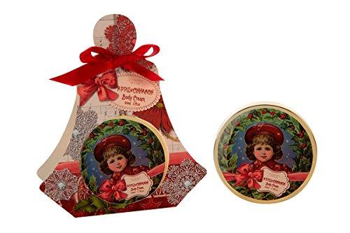 Körpercreme NOEL in Dose in Geschenkverpackung, 50ml, Duft: Apfel & Zimt, Farbe: rot/creme