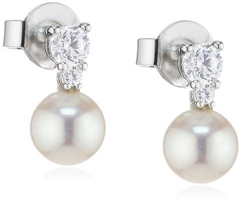 Esprit Damen-Ohrstecker 925 Sterling Silber rhodiniert Zirkonia ESER92589B000