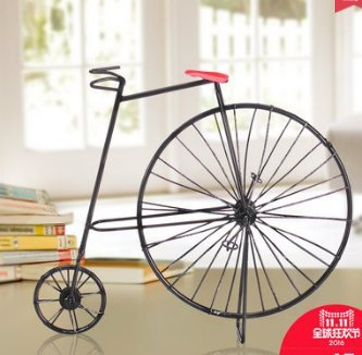 Vintage Decoración Retro Creativo Hierro Bicicleta Pequeño Sala Dorm