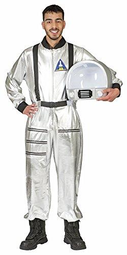Astronaut Tobias Kostüm für Erwachsene - Silber - Tolles Weltraum Weltall Fahrer Kostüm zu Karneval oder Mottoparty - Gr. (Silber Kostüm Weltraum)