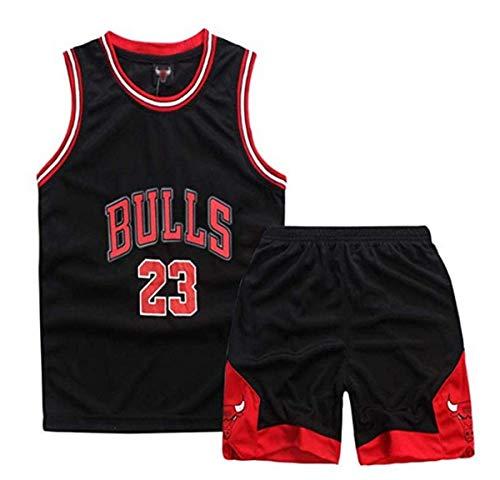 Kinder NBA Basketball Trikots Set - NBA Chicago Bulls Jorden # 23 Rocket Harden#13 Lakers Bryant#24 James #23 Celtics Ivring#11 Basketball-Shirt Weste Top Sommershorts für Jungen und Mädchen