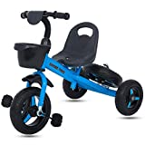#9: GoodLuck Baybee - Children Plug and Play 2 in 1 Convertible Kids Tricycle Trike with Spare Wheel, Baby Tricycle Ride on Outdoor | Suitable Babies for Boys & Girls - (2 to 5 Years) (Blue)