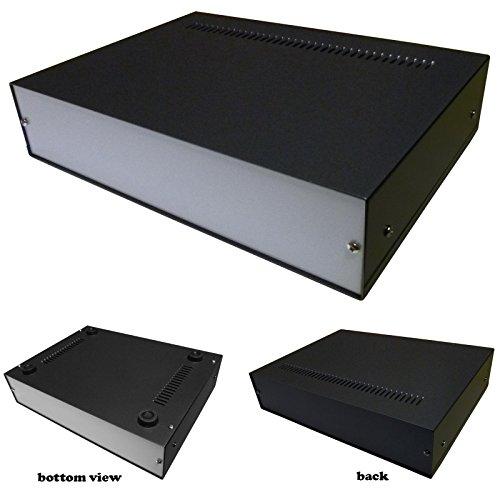Caja de aluminio para proyectos de escritorio, 270 x 200 x 60 mm, para electrónica