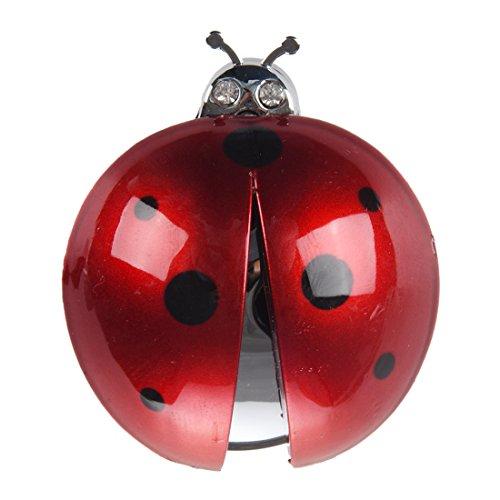 REFURBISHHOUSE Car Coccinella Design Profumo purificatore Rosso Scuro